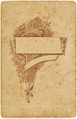 Victorian Style,Scroll,Banner,Old,Frame,Placard,Cartouche,Dirty,Old-fashioned,Image Created 19th Century,Design Element,Grunge,Antique,Sepia Toned,Brown,Decoration,Gothic Style,Printers Ornament,Household Objects/Equipment,Objects/Equipment,Card Stock,Obsolete,deteriorated
