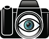 Camera - Photographic Equipment,Human Eye,Lens - Optical Instrument,Sign,Eyesight,Digital Camera,Symbol,Viewfinder,SLR Camera,Looking,Ideas,Religious Icon,Objects/Equipment,Illustrations And Vector Art,Equipment,Concepts