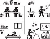 Computer Graphics,Concepts & Topics,Concepts,Love,Symbol,Sign,City,Desk,Toy,Education,Lifestyles,Technology,Domestic Room,Astronomy Telescope,Occupation,Education Building,Working,Studying,Playful,Guitar,School Building,Black Color,Silhouette,Home Office,Childhood,Fun,Learning,Computer Graphic,Playing,Child,Teenager,Music,Illustration,Boys,Teenage Girls,Girls,Elementary Age,Vector,Information Medium,Telescope,Elementary Student,Student,School Children,Collection,Adolescence,Plucking An Instrument,Computer,Arts Culture and Entertainment,Ideas,2015,Children's Room,Elementary School,High School,60595,60500