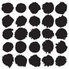 Dirty,Circle,White,Isolated,Watercolor Painting,Vector,Watercolor Paints,Black Color,Part Of,Set,Grunge,splats,Paintbrush,Painted Image,Shape,Textured Effect,Design Element