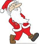 People,Humor,Happiness,Cap,Beard,Mustache,Cheerful,Walking,Smiling,Christmas,Red,White Color,Season,One Person,Santa Claus,Adult,Senior Adult,Cut Out,Cute,Santa Hat,Illustration,Celebration,Cartoon,Men,Senior Men,One Senior Man Only,Only Men,One Man Only,Vector,Characters,White Background,Holiday - Event,Adults Only,Take A Walk,2015,Cap