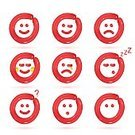 Emotion,Balloon,Smiling,Red,Illustration,Vector,2015,Icon Set