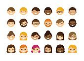 People,Simplicity,Variation,Connection,Human Body Part,Human Head,Human Face,Beard,Positive Emotion,Cheerful,Redhead,Caucasian Ethnicity,Southern European Descent,African-American Ethnicity,Latin American and Hispanic Ethnicity,Multi-Ethnic Group,Internet,Ethnicity,Adult,Young Adult,Cute,Illustration,Flat,Cartoon,Group Of People,Males,Men,Young Men,Females,Women,Young Women,Portrait,Vector,Using Computer,Fashion,Collection,Sparse,African Ethnicity,Adults Only,Arts Culture and Entertainment,Spanish and Portuguese Ethnicity,2015,102393,Avatar,Profile Picture,61184
