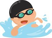 Child,124885,Swimming,Illustration,2015,Sport,Happiness,Flat,Competitive Sport,Education,Playing,Water,Vector,Eyeglasses,Smiling