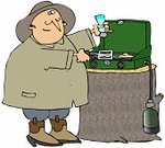 Camping,Eggs,Camping Stove,Mobility,Ilustration,Breakfast,Cooking,People,Condiment,Food And Drink,Spatula,Male,Salt,Cooking,Men,Griddle,Salt Shaker,Cartoon