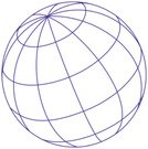 Globe - Man Made Object,Wire Frame,Latitude,Longitude,Sphere,Planet - Space,In A Row,Vector,Blue,Global Communications,Cartography,Circle,Slanted,Isolated On White,Physical Geography,Topography,Illustrations And Vector Art