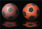 Soccer Ball,Sport,Soccer,Red,Sphere,Shiny,Competition,Team Sports,Isolated-Background Objects,Photographic Effects,Reflection,Sports And Fitness,Isolated Objects