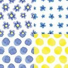 Abstract,Creativity,Computer Graphics,Cute,Geometric Shape,Collection,Summer,Illustration,Nature,Symbol,Flower Head,Fashion,2015,Backdrop,Computer Graphic,Seamless Pattern,Drawing - Activity,Backgrounds,Arts Culture and Entertainment,Vector,Blue,Pattern,Spotted,Textile,Yellow,Polka Dot
