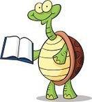 Turtle,Cartoon,Book,Reading,Animal,Bizarre,Vector,Eccentric,Cute,Reptile,Showing,Ilustration,Facial Expression,Standing,Cheerful,Isolated On White,Holding,White Background,Smiling