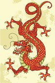 Chinese Dragon,Dragon,China - East Asia,Red,Chinese Culture,Tail,Monster,Animal Teeth,Claw,One Animal,Single Object,Animal Scale,Illustrations And Vector Art,No People,Animals And Pets