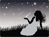 Dreamlike,Women,Star - Space,Star Trail,Wishing,Silhouette,Human Hair,Human Face,Night,Star Shape,Human Hand,Fashion,Aspirations,Female,Freedom,People,Symbol,Sky,Holding,Beauty,Back Lit,Contemplation,Eternity,Nature,Motivation,Inspiration,Ideas,Elegance,Creativity,Sensuality,Vitality,Imagination,Style,Clip Art,Beauty In Nature,Curly Hair,Teenage Girls,Beautiful,Young Adult,Design Element,Luminosity,Human Head,Black Color,Horizontal,Only Women,Long Hair,20-24 Years,Adult,Dusk,One Woman Only,One Person,Concepts,Glamour,Grass,Healthy Lifestyle,Winter,Caucasian Ethnicity,Copy Space,Dawn,Young Women,Adolescence