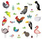 Cut Out,Simplicity,Flower,Flamingo,Computer Graphics,Animal Wing,Animal,Cute,Geometric Shape,Young Bird,Cartoon,Duck,Goose,Hummingbird,Illustration,Nature,Shape,Penguin,Symbol,2015,Swan,Ostrich,Chicken - Bird,Flat,Computer Graphic,Beak,Circle,Butterfly - Insect,Cockerel,Bird,Decoration,Ladybug,Rooster,Parrot,Baby Chicken,Owl,Animal Body Part,Kiwi - Bird,Turkey - Bird,Fun,Toucan,Vector,Design,Group Of Objects,Domestic Animals,Multi Colored,Red,White Color,Pink Color,Black Color,Green Color,White Background