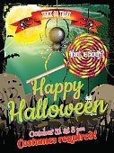 Cemetery,Halloween,Tree,Autumn,Night,Backgrounds,Tomb,Tombstone,Grass,Monster - Fictional Character,Illustration,Evil,Zombie,Rotting,No People,Vector,Moonlight,October,Background,2015