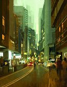 Oil Painting,Art,Watercolor Painting,People,Downtown District,Avenue,Acrylic Painting,Built Structure,Town,Outdoors,Landscape,Car,Painted Image,Art And Craft,Sky,Lighting Equipment,Business Finance and Industry,Color Image,Vertical,Architecture,Street,Light - Natural Phenomenon,Night,60500,Abstract,Modern,City,Tall - High,Travel,60595,Arts Culture and Entertainment,Colors,Textured Effect,Road,Illustration,Design,Beauty,Traffic,Cityscape,City Life,Creativity,oilpainting,Skyscraper,Business,Beautiful People,Shape,Fashion,2015,Ideas,Green Color,Office Building Exterior,Vanishing Point