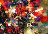 Oil Painting,Art,Watercolor Painting,Stroking,Purple,Acrylic Painting,Bouquet,Yellow,Painted Image,Close-up,Art And Craft,Backgrounds,Leaf,Color Image,Flower,Horizontal,Bright,Summer,Abstract,Modern,Part Of,Blue,Bright,Pattern,Flower Head,Arts Culture and Entertainment,Vibrant Color,Colors,Paintbrush,Textured Effect,Illustration,Multi Colored,Beauty,Creativity,Nature,Red,Beautiful People,Shape,Variation,Fashion,2015,Artist's Canvas,Springtime