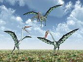Died Out,Beast Of Prey,Quetzalcoatlus,60017,Horizontal,Majestic,Dinosaur,Paleontology,Giant,Plant,Plain,Power,Animal,Rural Scene,Cloud - Sky,Extreme Terrain,Illustration,Animals Attacking,Nature,Giant,Extinct,Sky,2015,Flying,Hunting,Plain,Pterosaur,Landscape,Large,Three Dimensional,Reptile,Large,Animals Hunting
