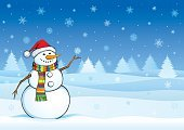 Snowman,Christmas,Winter,Christmas Card,Snow,Cartoon,Backgrounds,Holiday,Vector,Snowflake,Landscape,Polar Climate,Cheerful,Vacations,Tree,Fun,Forest,Clip Art,Ilustration,Computer Graphic,Design,Backdrop,Celebration,Image,Season,December,Smiling,Color Image,Horizontal,Cheesy Grin,Blue,Holiday Backgrounds,Royal Blue,New Year's,Powder Blue,Holidays And Celebrations,Copy Space,Front View,Christmas
