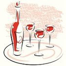 Wine,Wineglass,Wine Bottle,Art,Rose Wine,Sketch,Glass - Material,Drawing - Art Product,Red Wine,Ilustration,Vector,Pencil Drawing,Design,Alcohol,Drink,Celebration,Painted Image,Food And Drink,Red