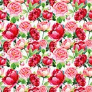 Decor,Bouquet,Square,Plant,Green Color,Pink Color,Red,Pattern,Leaf,Flower Head,Petal,Bud,Springtime,Summer,Decoration,Peony,Art And Craft,Art,Craft,Watercolor Painting,Blossom,Illustration,Floral Pattern,No People,Single Flower,Retro Styled,Single Object,2015,81352,Seamless Pattern