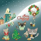 60161,60595,Characters,Celebration,Cold Temperature,Relaxation,Humor,Coffee - Drink,Cup,Recreational Pursuit,Domestic Cat,Animal,Cute,Leisure Activity,Holiday - Event,New Year's Eve,New Year's Day,Christmas,Cartoon,Town,Cheerful,Collection,Snowflake,City,Illustration,Nature,House,Wreath,December,2015,Joy,Happiness,Winter,Mouse,Pets,Christmas Tree,Building Exterior,New Year,Gift,Small,Built Structure,Snow,Coffee Cup,Ice,Tree,Fun,Vector,Ice,Cityscape,Multi Colored,Sock,Sweater,Smiling,White Color