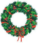Wreath,Christmas,Holiday,Circle,Pine Tree,Decoration,Evergreen Tree,Tree,Spruce Tree,Sign,Branch,Vector,Winter,Ribbon,Christmas Decoration,Symbol,Ribbon,Greeting,Holidays And Celebrations,New Year's,Christmas Ornament,Christmas,Bow,Holiday Symbols,Celebration,Green Color