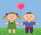 People,Friendship,Love,Happiness,Balloon,Toy,Nature,Horizontal,Outdoors,Doll,Cheerful,Smiling,Son,Family,Flower,Summer,Landscape,Meadow,Childhood,Heart Shape,Baby,Child,Grass,Valentine's Day - Holiday,Rag Doll,Chamomile,Illustration,Cartoon,Males,Boys,Girls,Baby Girls,Vector,Toddler,Holiday - Event,2015,Symbolical,Chamomile