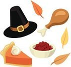 Pilgrim,Hat,Thanksgiving,Turkey,Pumpkin Pie,Icon Set,Pie,Cranberry Sauce,Autumn,Leaf,Cranberry,Clip Art,Turkey Leg,Ilustration,Holiday,Drawing - Art Product,White Background,Isolated Objects,Thanksgiving,Holidays And Celebrations,Orange Color,Brown,Design Element,Illustrations And Vector Art