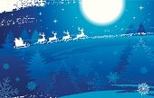 Santa Claus,Christmas,Sleigh,Reindeer,Winter,Snow,Backgrounds,Night,Sky,Blue,Christmas Decoration,Tree,Silhouette,Star - Space,Snowflake,Holiday,Animal,Vector,Polar Climate,Moon,Backdrop,Computer Graphic,Grunge,Decoration,Ilustration,Vacations,White,Design,Season,Image,Placard,Clip Art,Horizontal,Color Image,December,Celebration,Painted Image,Holiday Backgrounds,Christmas,Arts And Entertainment,Holidays And Celebrations,Arts Backgrounds