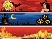 Halloween,Banner,Autumn,Witch,Backgrounds,Plan,Abstract,Pumpkin,Castle,Leaf,Bat - Animal,Ilustration,Design,Moon,Holiday,Paint,Vector,Creativity,Set,Silhouette,Clip Art,Curled Up,Fall,Sky,Painted Image,Halloween,Decoration,Style,Light - Natural Phenomenon,Holidays And Celebrations,Nature