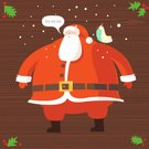 Santa Claus,Christmas,Winter,Bird,Snow,Pattern,Wood - Material,Backgrounds,Red,Holly,Holiday,Cartoon,Men,Vector,Cheerful,Senior Men,Beard,Happiness,Cold - Termperature,Celebration,Human Hair,Holidays And Celebrations,Character Traits,Vector Cartoons,Illustrations And Vector Art,Christmas,Costume,Serene People,Tranquil Scene,Fur,Concepts And Ideas