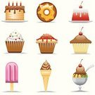Cupcake,Cake,Symbol,Dessert,Ice Cream,Bakery,Computer Icon,Donut,Candy,Icon Set,Chocolate,Flavored Ice,Food,Gelatin Dessert,Cute,Sweet Food,Ice,Fruit,Strawberry,Chocolate Candy,Unhealthy Eating,Baked,Whipped Cream,Icing,Take Out Food,Illustrations And Vector Art,Food And Drink,Eating,Vector Icons