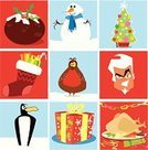 Turkey,Santa Claus,Christmas Pudding,Penguin,Christmas,Robin,Snowman,Christmas Tree,Christmas Stocking,Holiday,Christmas,Holidays And Celebrations,Celebration,Gift