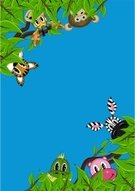 Tropical Rainforest,Animal,Monkey,Backgrounds,Rainforest,Cute,Forest,Tiger,Vector,Non-Urban Scene,Zebra,Animals In The Wild,Tropical Climate,Crocodile,Ilustration,Wildlife,Hippopotamus,Leaf,Ape,Fun,Funky,Nature,Computer Graphic,Clip Art,Spotted,Bush,Blue,Green Color,Striped,Cool,Branch,Reptile,Hiding,Digitally Generated Image,Modern,Lush Foliage,Vector Cartoons,Illustrations And Vector Art,Animals And Pets,Vector Backgrounds