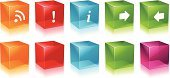 Cube Shape,Three-dimensional Shape,Computer Icon,Symbol,Push Button,Square Shape,Interface Icons,Icon Set,Shiny,Sign,Square,Internet,Information Medium,Vector,Exclamation Point,rss,Set,Green Color,Red,Arrow Symbol,Wireless Technology,Orange Color,Design Element,Blue,Reflection,Multi Colored,Collection,Purple,Empty,Isolated,Vector Icons,Illustrations And Vector Art