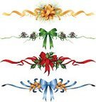 Ribbon,Christmas,Holiday,Bow,Holly,Bow,Christmas Decoration,Christmas Ornament,Gold Colored,Vector,Green Color,Pine Cone,Red,Blue,Decoration,Ilustration,Evergreen Tree,Clip Art,Pine Tree,Isolated
