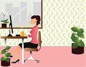 Office Interior,Women,Secretary,Desk,Pink Color,Office Chair,Vector,Computer,Working,Plant,Laptop,Sales Clerk,Circle,Flower,Business,Green Color,Desktop PC,Backgrounds,Seat,Occupation,Assistance,Comfortable,Fashion,Wallpaper,Window,Headset,High Heels,Ilustration,Time,Flower Pot,Urban Scene,City,Brown,Elegance,Cute,Design,Skirt,Hands-free Device,Job - Religious Figure,USA,Youth Culture,Business Concepts,Business,Business People,Funky,Kitsch,Style,Illustrations And Vector Art,Yellow,Manager,City Life,Urban Skyline,Document