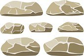 No People,Rock - Object,Computer Graphics,Granite,Geology,Cartoon,Collection,Illustration,Nature,Image,Mineral,Rough,Quartz,Feldspar,2015,Computer Graphic,Clip Art,Small,Large Group of Objects,Vector,Stone - Object,Group Of Objects,White Color,Brown