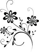 Flower,Floral Pattern,Swirl,Decoration,Outline,Black And White,Black Color,Plant,Scroll Shape,Vector,Nature,Leaf,Design Element,Ilustration,Elegance,Isolated,Computer Graphic,Romance,Creativity,Shape,Beauty,Curve,Botany,Curled Up,Beautiful