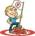 Exterminator,Termite,Pest,Cockroach,Insect,Ant,Cartoon,Dead Animal,Killing,Men,Spider,Flag,Male,Target,Occupation,Ilustration,Uniform,Success,Clip Art,Vector Cartoons,Business,Illustrations And Vector Art,Animals And Pets,Business Symbols/Metaphors,Insects