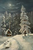 Christmas,Snow,Winter,Landscape,Night,House,Tree,Residential Structure,Pine,Scenics,Window,Forest,Snowing,Ilustration,Ice,Serene People,Moon,Humor,Tranquil Scene,Nature,Pine Tree,Paintings,Silence,White,Outdoors,Resting,Chimney,softwood,Dark,Art,Frozen,Spruce Tree,Fog,Coniferous Tree,Slush,Christmas,New Year's,Clean,Winter,Nature,Blank,Reclining,Snowdrift,Holidays And Celebrations,Finger on Lips,Painted Image,Glacier