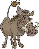Warthog,Safari Animals,Animals In The Wild,Tusk,Wild Animals,Vector Cartoons,Illustrations And Vector Art,Wildlife,Mammal,Animals And Pets