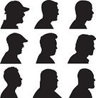 People,Symbol,Black And White,Human Body Part,Human Head,Human Face,Profile View,Silhouette,Shoulder,Computer Icon,Adult,Illustration,Group Of Objects,Males,Men,Vector,2015,Silhouette,Icon Set,Human Joint