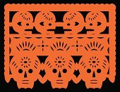 Day Of The Dead,Mexico,Mexican Culture,Paper,Latin American and Hispanic Ethnicity,Papel Picado,Halloween,Craft,Paper Chain,Decoration,Dia De Muertos,Latin American Culture,Vector,Latin America,Holidays And Celebrations,Halloween,Arts And Entertainment,Arts Backgrounds,Black Color,Ilustration,Orange Color,Illustrations And Vector Art
