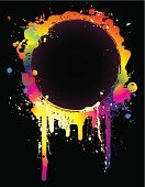 Neon Light,Spray,Paint,Splattered,Color Image,Rainbow,Circle,Grunge,Frame,Ink,Abstract,Banner,Drop,Blob,Multi Colored,Black Color,White,Green Color,Red,Color Gradient,Purple,Panel,Pink Color,Orange Color,Blue,Colored Background,Yellow,Placard,Art,Messy,template,Blank