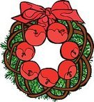 Wreath,Christmas,Circle,Illustration,Christmas Decoration,No People,Vector,2015,Circle Background,Frame Vector