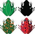 TROPICAL FROG,No People,Common Frog,Illustration,2015,Set,Vector,Design,Group Of Objects