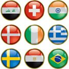 India,Switzerland,Greece,Brazil,Norway,Sphere,Symbol,National Flag,Iraq,Republic of Ireland,Vector Backgrounds,Vector Icons,Travel Backgrounds,Illustrations And Vector Art,Sweden,Travel Locations