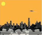 Airplane,Business,Business Travel,Travel,City,Vector,Urban Scene,Illustrations And Vector Art