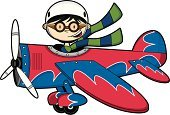 Airplane,Pilot,Cartoon,Cute,Teenage Boys,Propeller,Wing,Flying Goggles,Vector,Clip Art,Characters,Flying,Smiling,Scarf,Ilustration,Wheel,Work Helmet,Funky,Isolated,Cool,Vector Cartoons,People,Modern,Illustrations And Vector Art