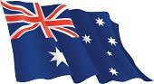 Australian Flag,Flag,Australia,Waving,Vector,Banner,Pennant,Symbol,Backgrounds,Isolated,No People,White,Full,Ilustration,Single Object,Business,Isolated Objects,Illustrations And Vector Art,Insignia,Color Image,Close-up,Horizontal,Blue,Red,Independence